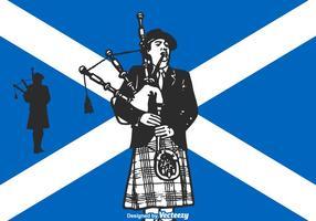 Gratis Vector Scottish Bagpiper