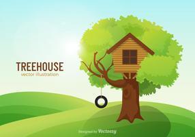 Gratis Treehouse Vector Illustration
