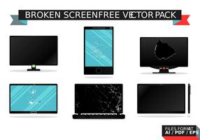 Bruten skärmfri vektorpaket