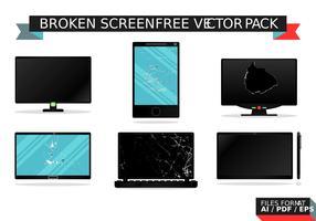 Gebrochene Bildschirm kostenlose Vektor-Pack