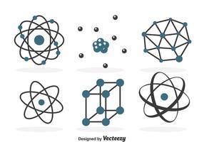 Atomnium icons gesetzt vektor