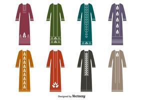 Muslimischen Kleid Vektor Set-Vektor Abaya