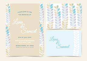 Vektor Pastell Hochzeit laden ein