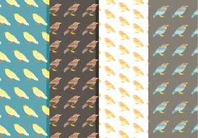 Vektor Aquarell Vogel Muster