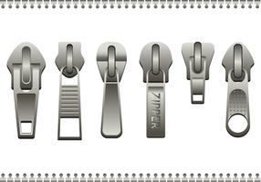 Free Steel Zipper Pull Vektor