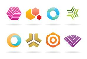 Trendige bunte Logos vektor