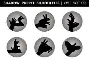 Schatten Marionetten Silhouetten Free Vector