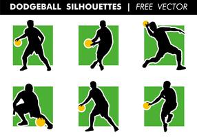 Dodgeball silhuetter fri vektor