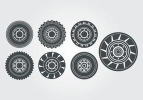 Traktor Reifen Vektor