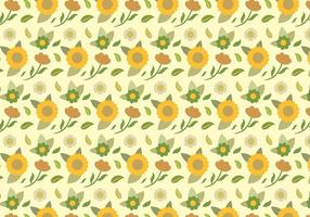 Gelbes Blumenmuster