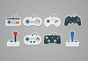 Free Gaming Joystick Aufkleber Icons vektor