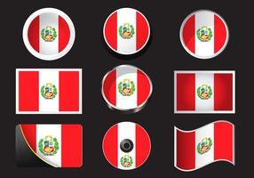 Peru Flagg Stockvektor vektor