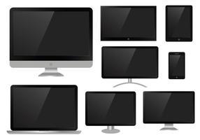 Freie LED-Bildschirm flache Vektor