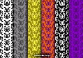 Rib Cage Icon Bunte nahtlose Muster Vector Set
