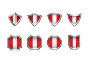Peru flagg ikon vektor