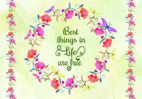 Free Vector Aquarell Blumen Schmetterling Hintergrund