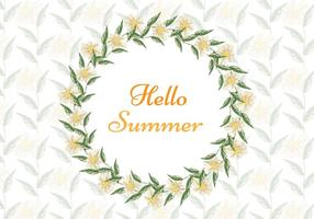 Free Vector Aquarell Sommer Hintergrund