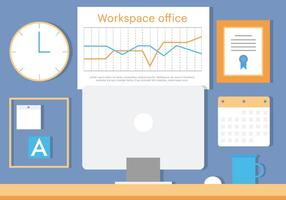 Gratis Business Office Vector Illustration
