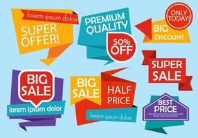 Kostenlose Origami Design Vektor Etiketten