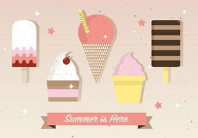 Free Flat Ice Cream Vektor-Illustration