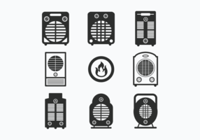 Set Icons of Heater