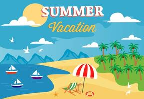 Freie Sommer-Strand-vektorabbildung