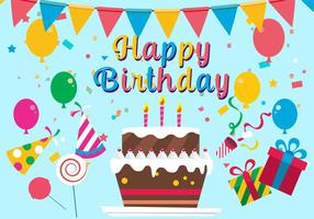 Gratis Grattis på födelsedagen Vektor illustration