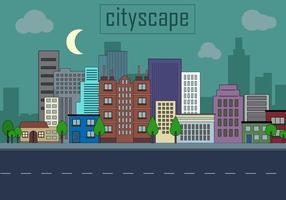 Freie städtische Landschaft Vektor-Illustration vektor