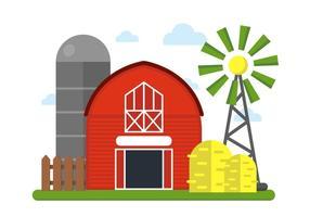 Bauernhof Vektor-Illustration