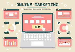 Free Flat Digital Marketing Vektor-Illustration