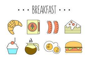 Vector Set von Fast Food Mahlzeiten