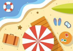 Freie Sommer-Strand-vektorabbildung vektor