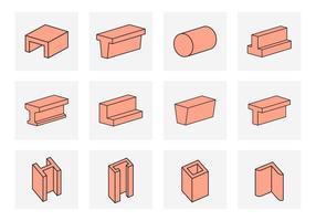 Vektor-Illustration von Stahlbalken