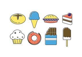 Vector Satz von Süßigkeiten