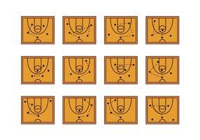 Korb Ball Playbook Icon vektor