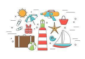 Vector Set von Sommer Icons