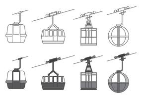 Kabel bil ikoner vektor