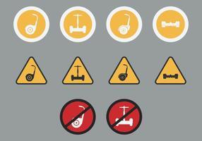 Segway Zeichen Icon Set vektor