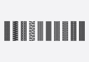 Traktor Tire Icon Set vektor