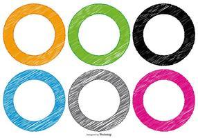 Scribble stil cirkel former