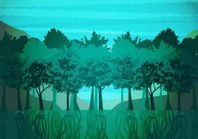 Mangrove Illustration Vektor