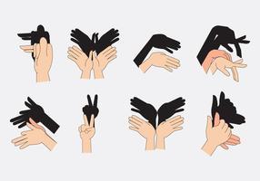 Freie Hand Schatten Theater vektor
