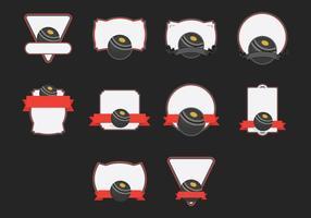Rasen Schüssel Vorlage Icon Set