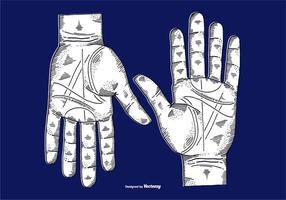 VECTOR ETCHED HANDS - LINE TECKNING