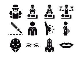Plastikkirurgiska ikoner