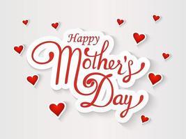 glückliche Muttertagsgrußkarte vektor