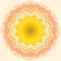 mandala i orange och gul färg vektor