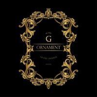Luxus-G-Rahmen mit Goldverzierung