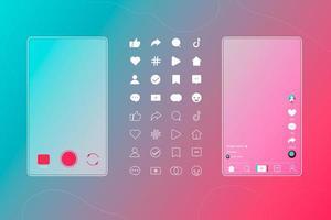 Social Media Buttons vektor