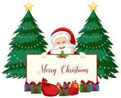 jultema med santa vektor